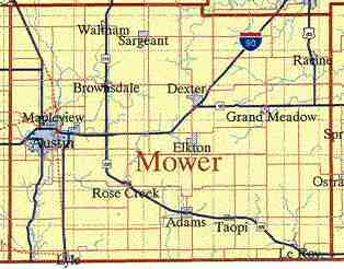 Mower county maps page southern minnesota publicscrutiny Images
